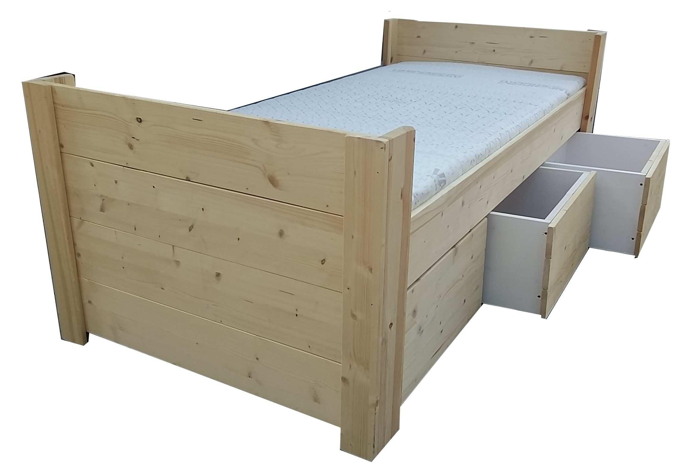 Bed 140x200 Hout.Bed Met Laden Bedden Met Laden Massief Hout Houten Bedden Met Laden